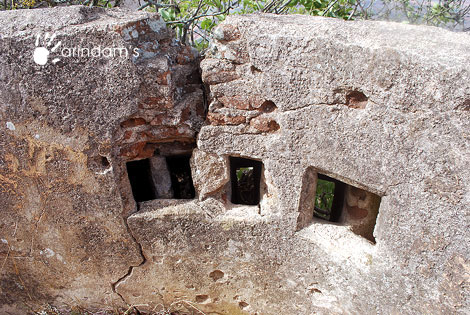 Holes in the fort wall for firing - Nandi Hills (Nandidurg), Chikkaballapur.