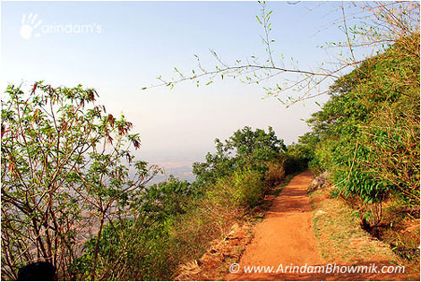 Beautiful road at Nandi Hills.