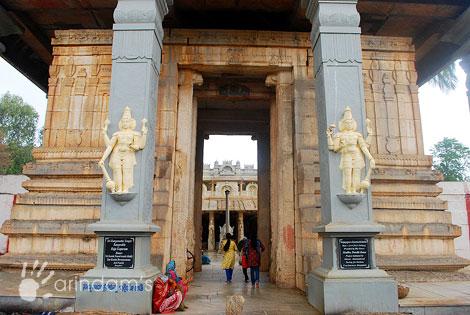 Main Entrance of the Temple, Rangasthala, Thippanahalli, Chikkaballapur.