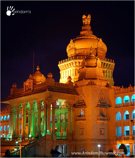 Magnificent Vidhana Soudha at night � Photo by Arindam Bhowmik